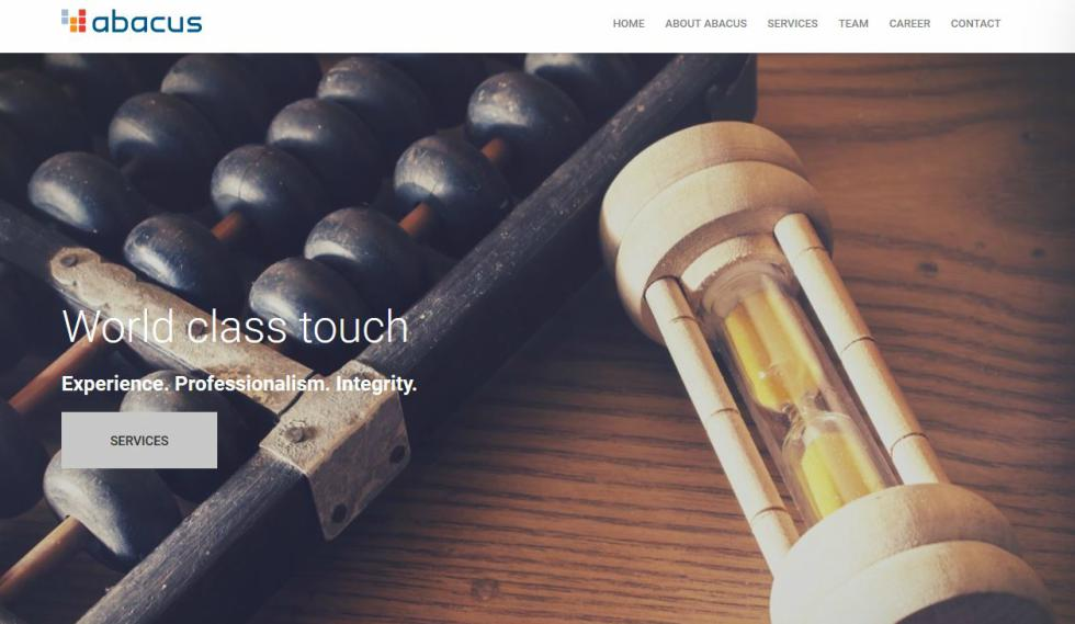 Abacus Home Page Website