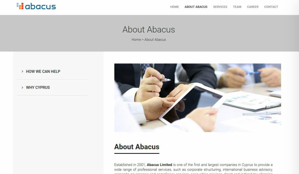 Abacus About Us Page