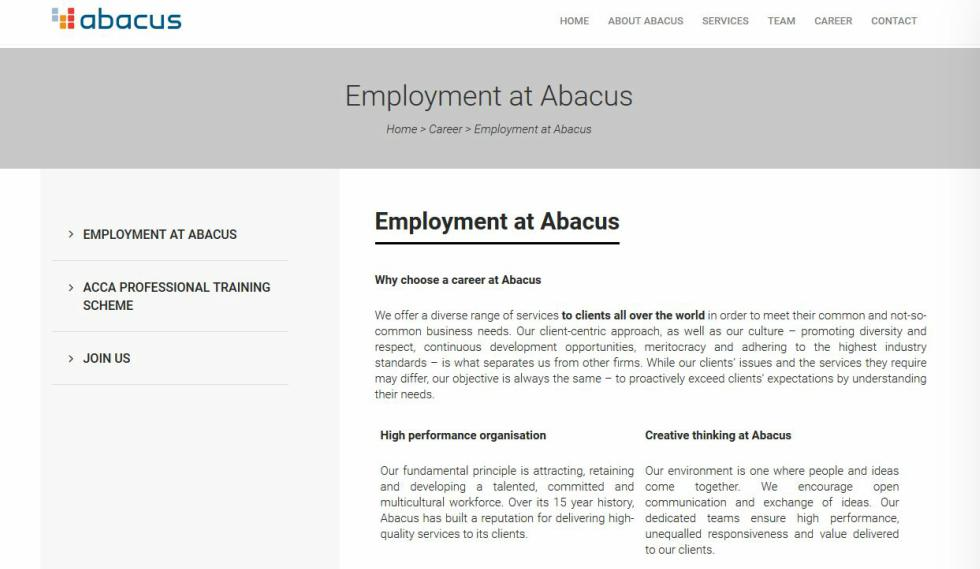 Abacus Employment