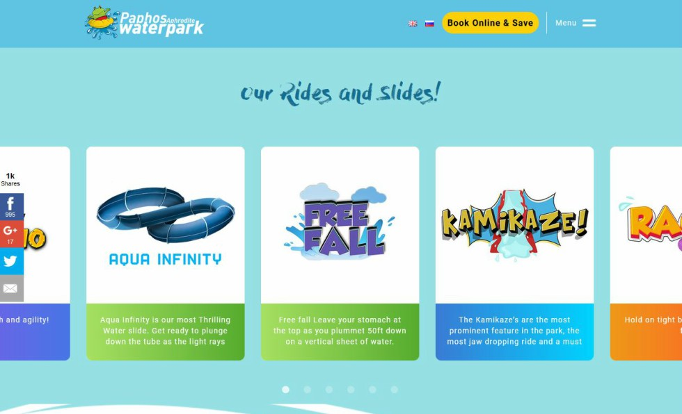 Paphos Aphrodite Water Park Slides and Rides