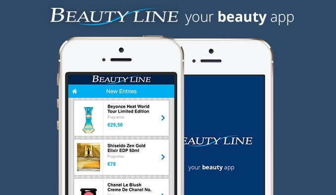 Beautyline Mobile App Mobile View