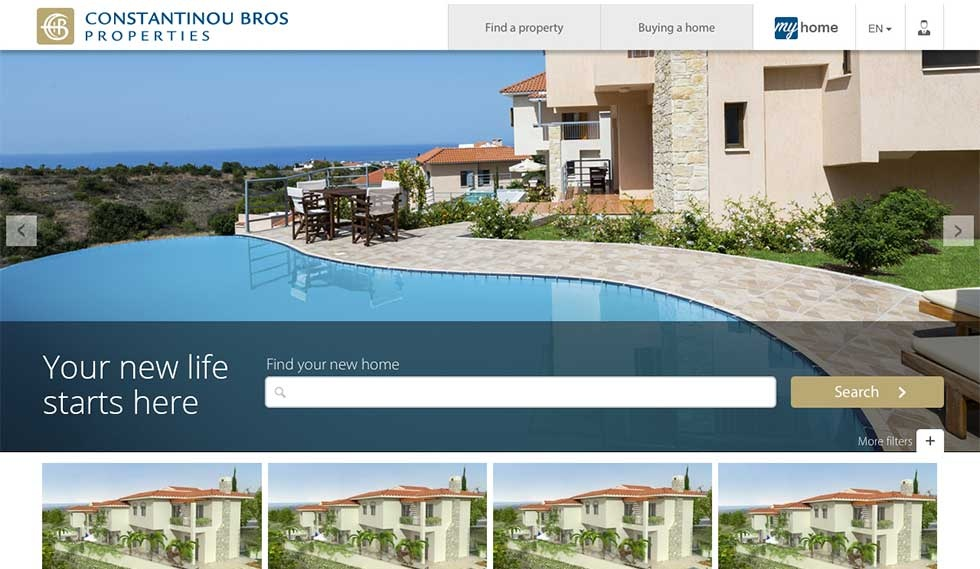 Constantinou Bros website home page