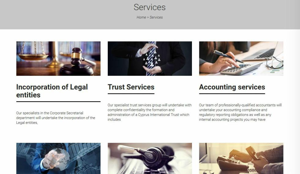 Crystalserve Fiduciary Services Page