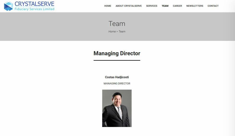 Crystalserve Fiduciary Services Team Management