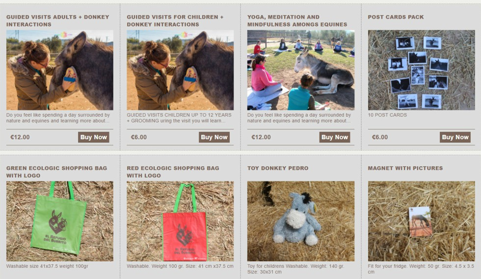 Donkey Sanctuaries Spain Interactions Store Page