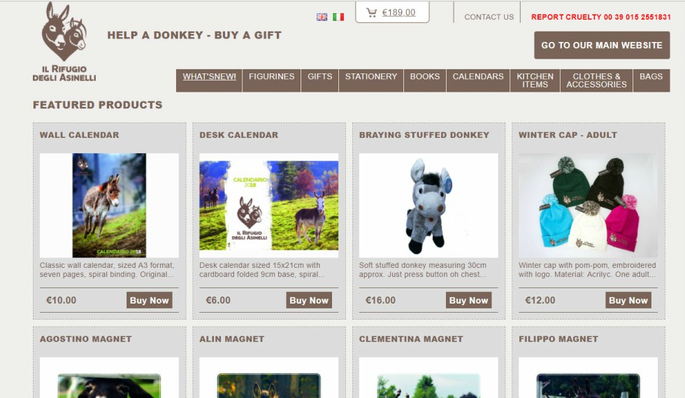 Donkey Sanctuaries Italy Store Page