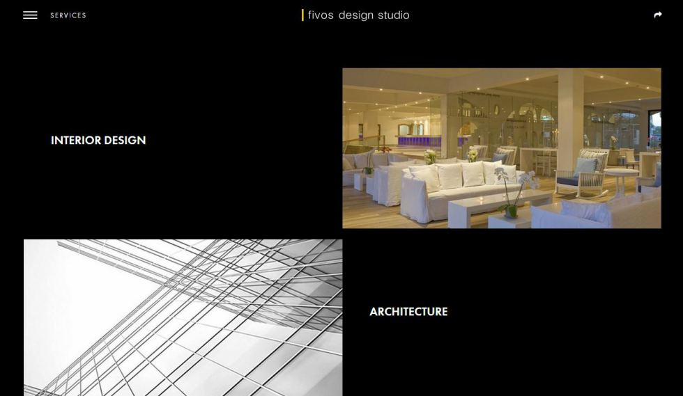 Fivos Stavrides Design Studio Services Page