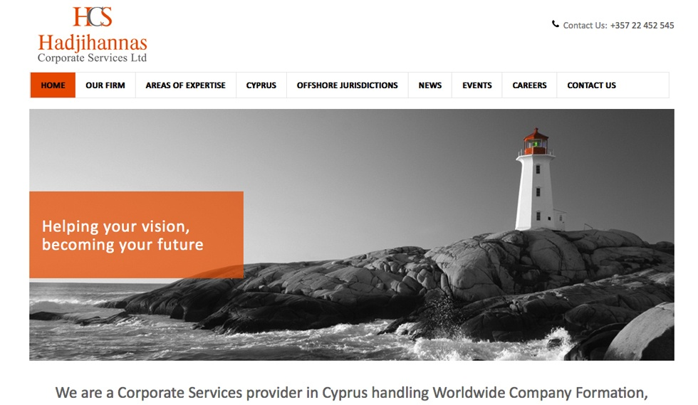 HCS corporate website Home Page