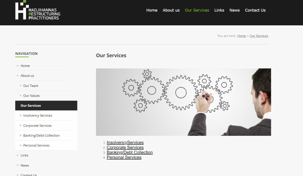 HRP Website Services Page