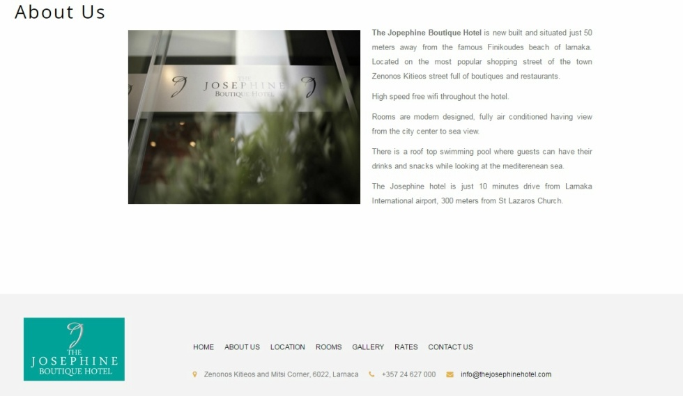 The Josephine Boutique Hotel About Us