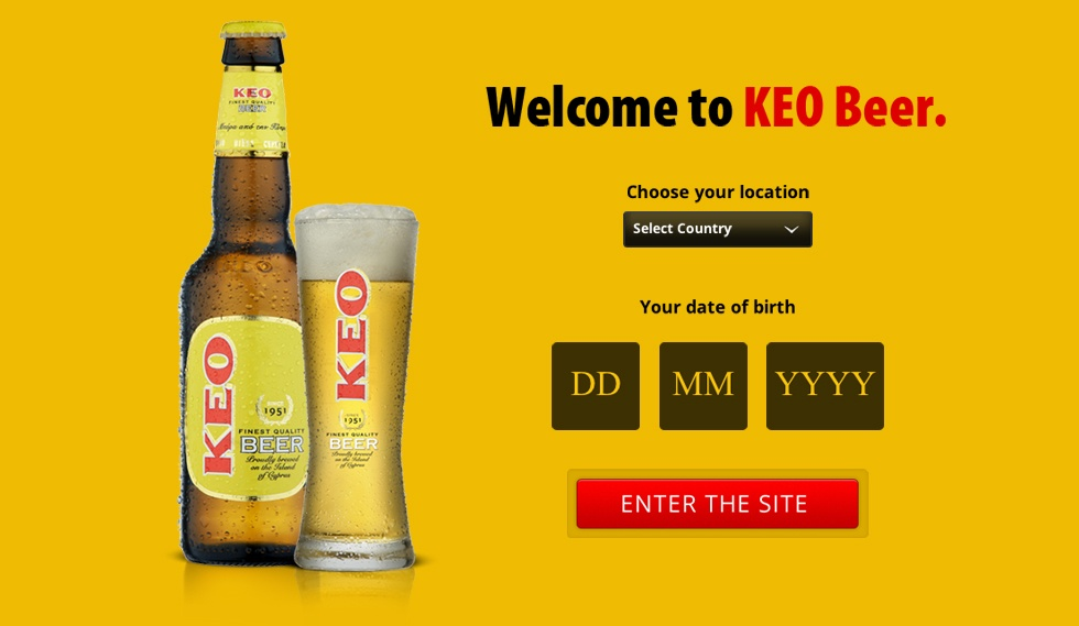 KEO beer microsite Welcome to Keo beer