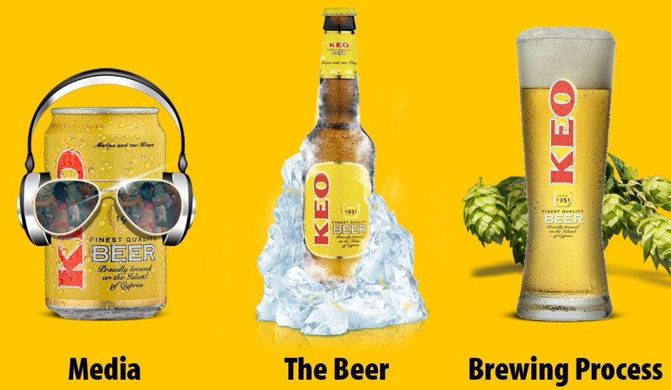 KEO beer microsite more Options