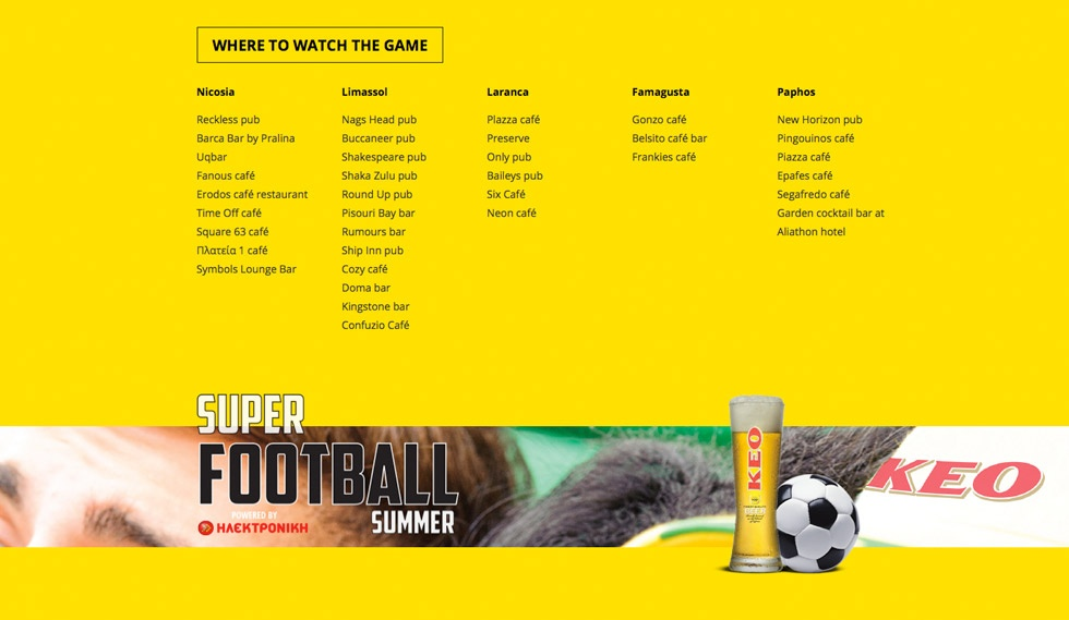 KEO Super Football Competition locations live football
