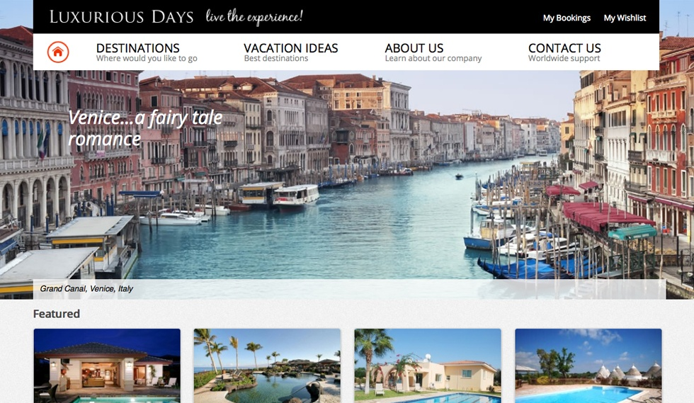 Luxurius Days Home Page