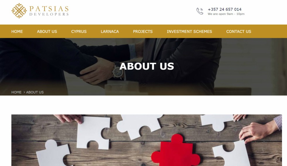 Patsias Developers About Us Page