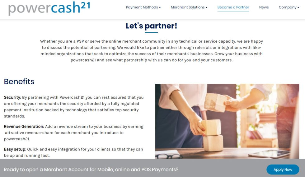 Powercash21 Become a Partner