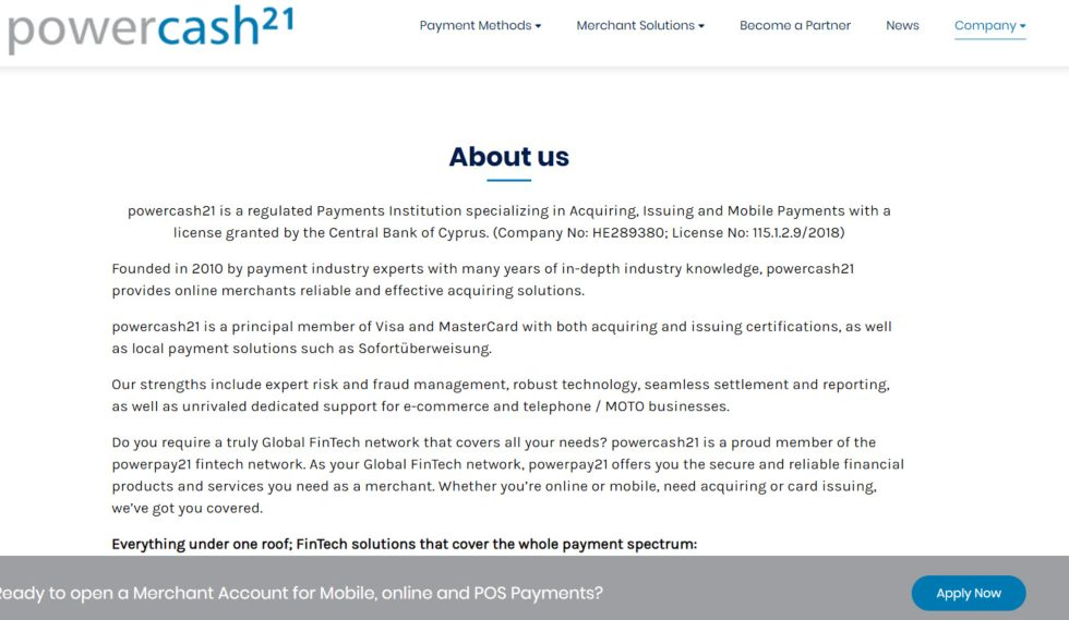 Powercash21 About Us