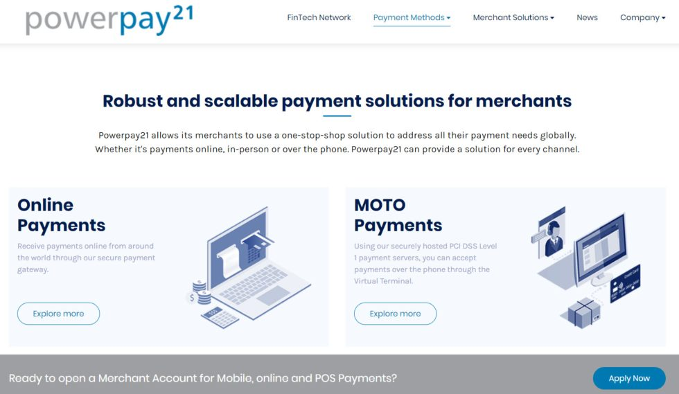 Powerpay21 Payment Methods