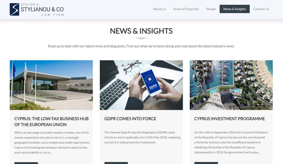 Stelios A. Stylianou & CO Law Firm News and Insights