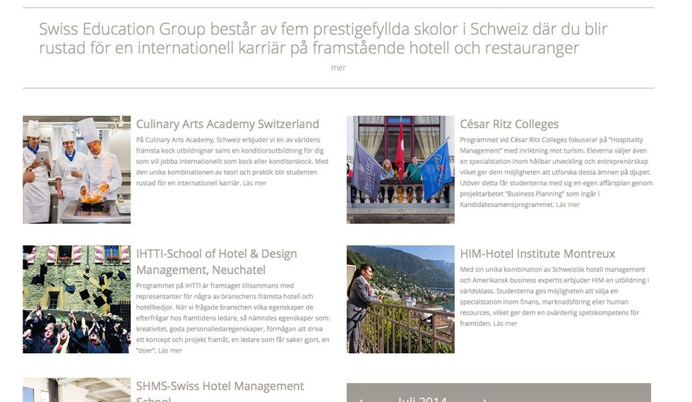 Swiss Education Group Article Selection