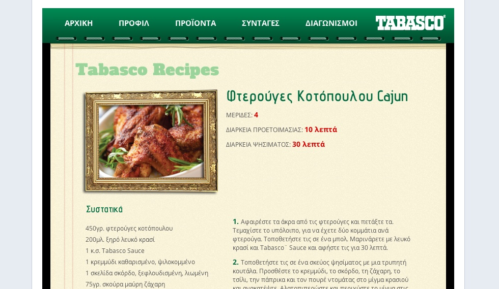 Tabasco Recipes
