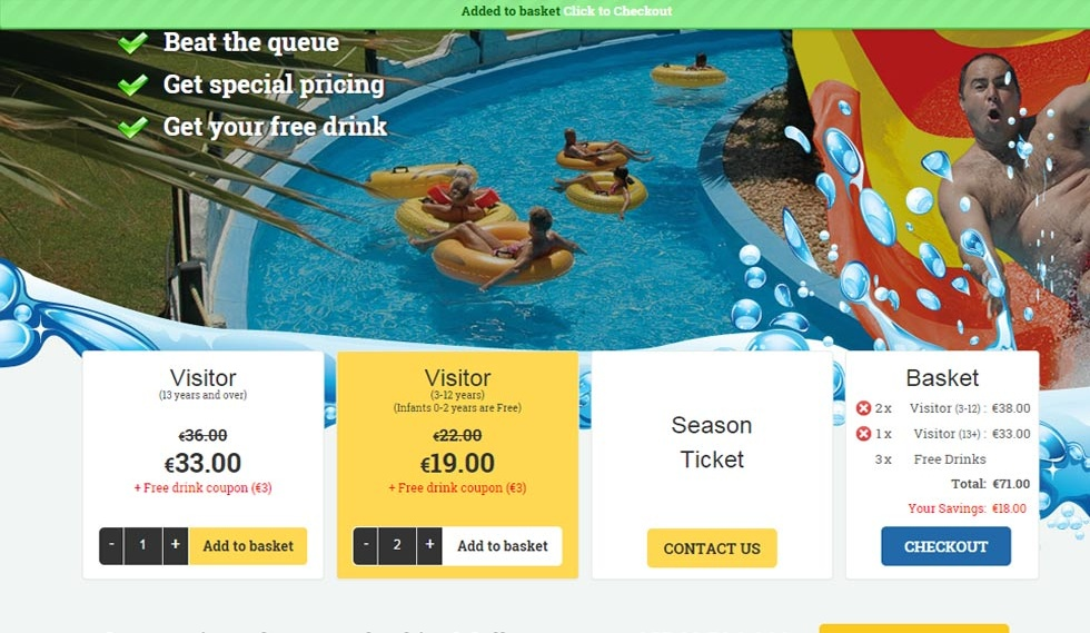 Buy WaterPark Tickets prices