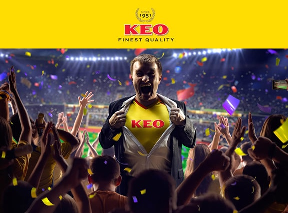 KEO beer mobile game website